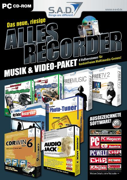 Das neue, riesige Allesrecorder Musik & Video P...