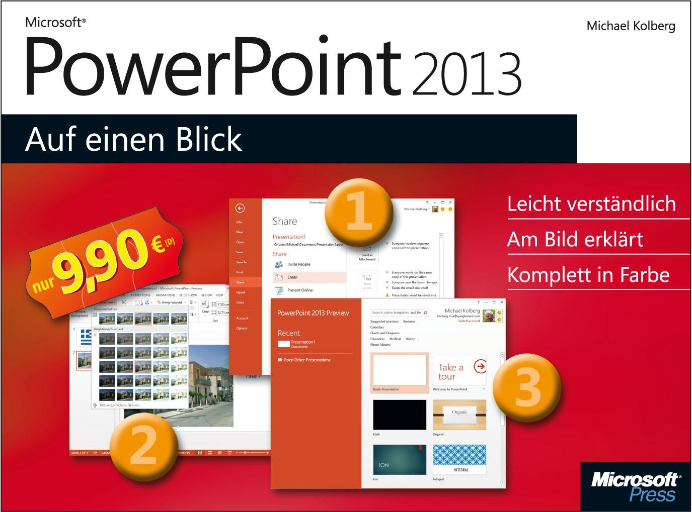 Microsoft PowerPoint 2013 auf einen Blick - Kolberg, Eva