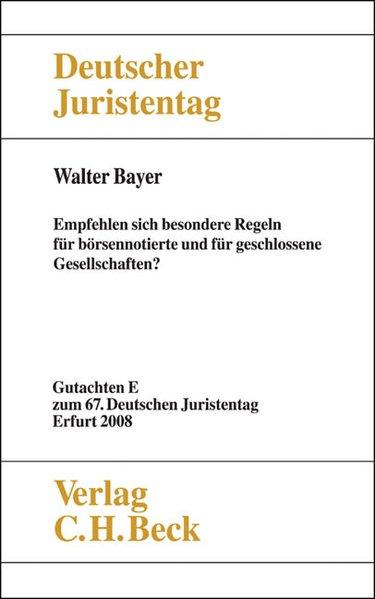 Verhandlungen des 67. Deutschen Juristentages E...