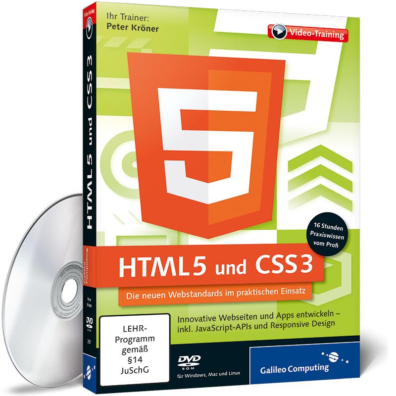 HTML 5 und CSS3 - Innovative Webseiten und Web-...