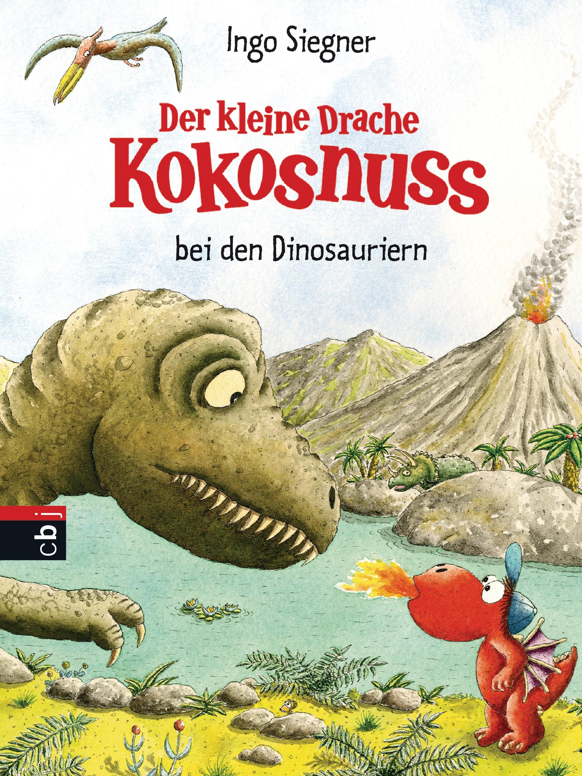 Der kleine Drache Kokosnuss bei den Dinosauriern - Ingo Siegner [Gebundene Ausgabe]