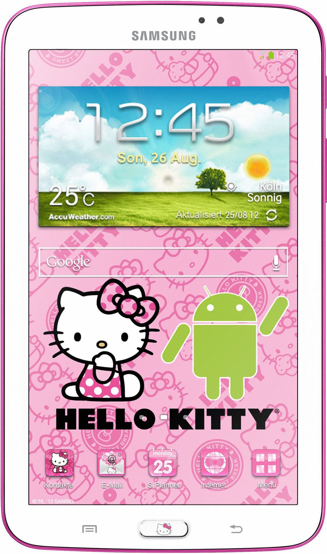 Samsung Galaxy Tab 3 7.0 7 8GB [wifi, Hello Kitty Edition] wit