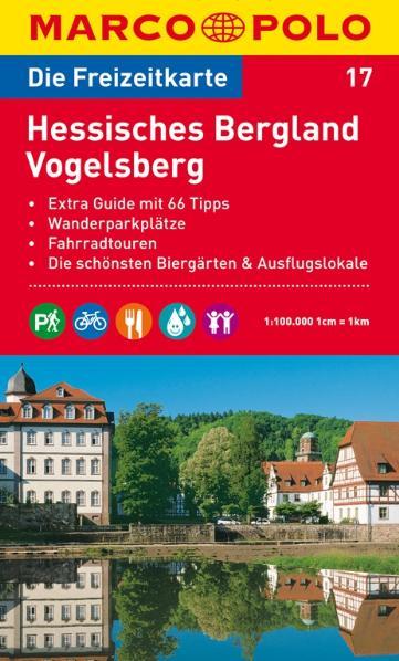MARCO POLO Freizeitkarte Hessisches Bergland, Vogelsberg 1:100.000