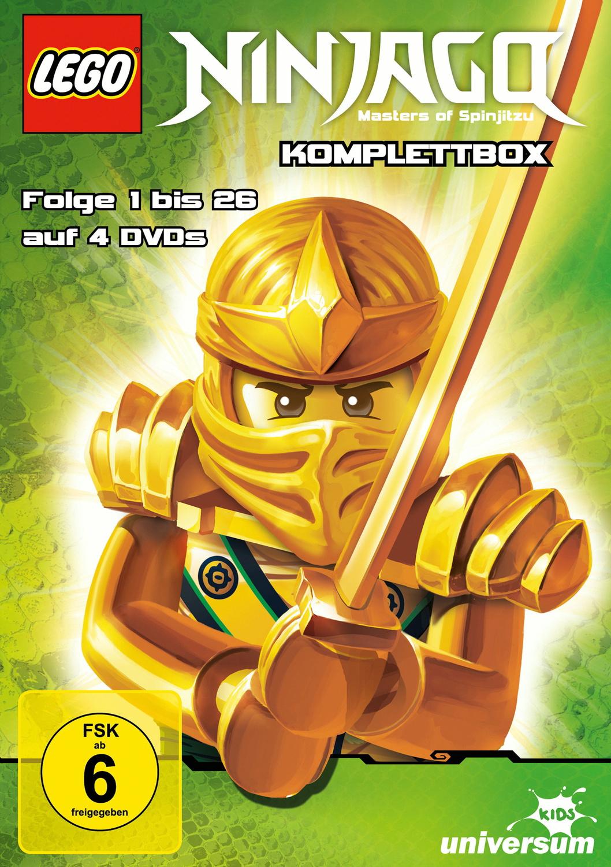 Lego Ninjago Komplettbox, Folge 1-26 [4 DVDs]