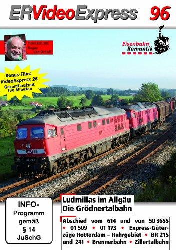 ER VideoExpress 96 - Ludmillas im Allgäu - Die Grödnertalbahn - Video-Magazin DVD im Set mit der Zeitschrift ZÜGE