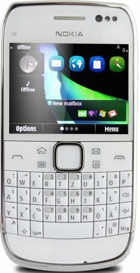Nokia E6 8GB white