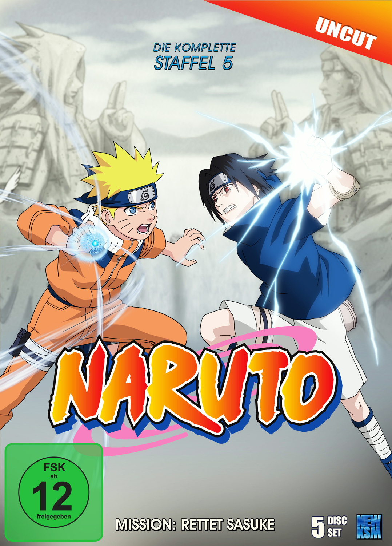 Naruto - Staffel 5: Mission: Rettet Sasuke (Episoden 107-135, uncut) [5 DVDs]