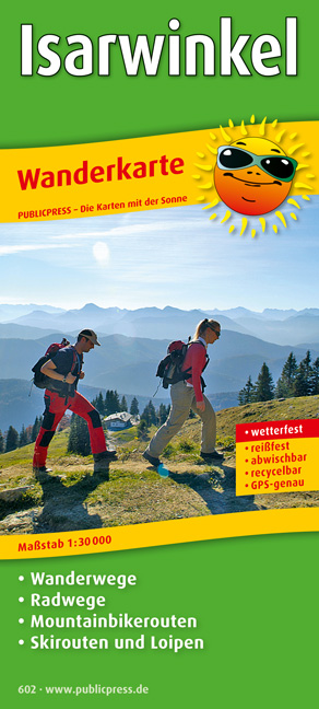 Wanderkarte Isarwinkel: mit Radwegen und Mountainbikerouten, wetterfest, reißfest, abwischbar, GPS-genau. 1:30000 - Publicpress