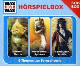 Was Ist Was: Katzen, Pferde / Dinosaurier, Spinnen / Seeräuber, Schiffe [3 Audio CDs]