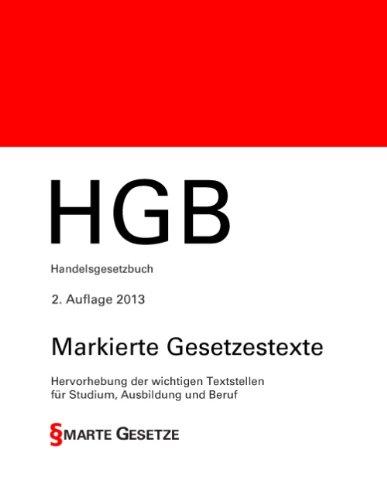 HGB, Handelsgesetzbuch, 2. Auflage 2013, Smarte...