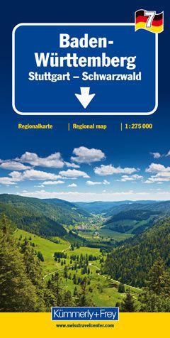 Baden-Württemberg 1 : 275.000 mit touristischen...