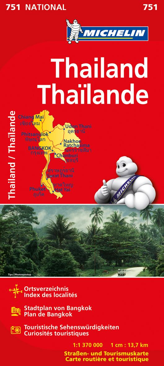 Michelin Nationalkarte: Nr. 751 - Thailand / Th...