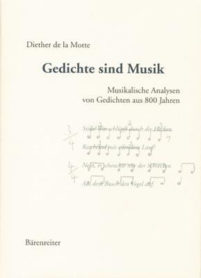 Gedichte sind Musik. Musikalische Analysen von ...