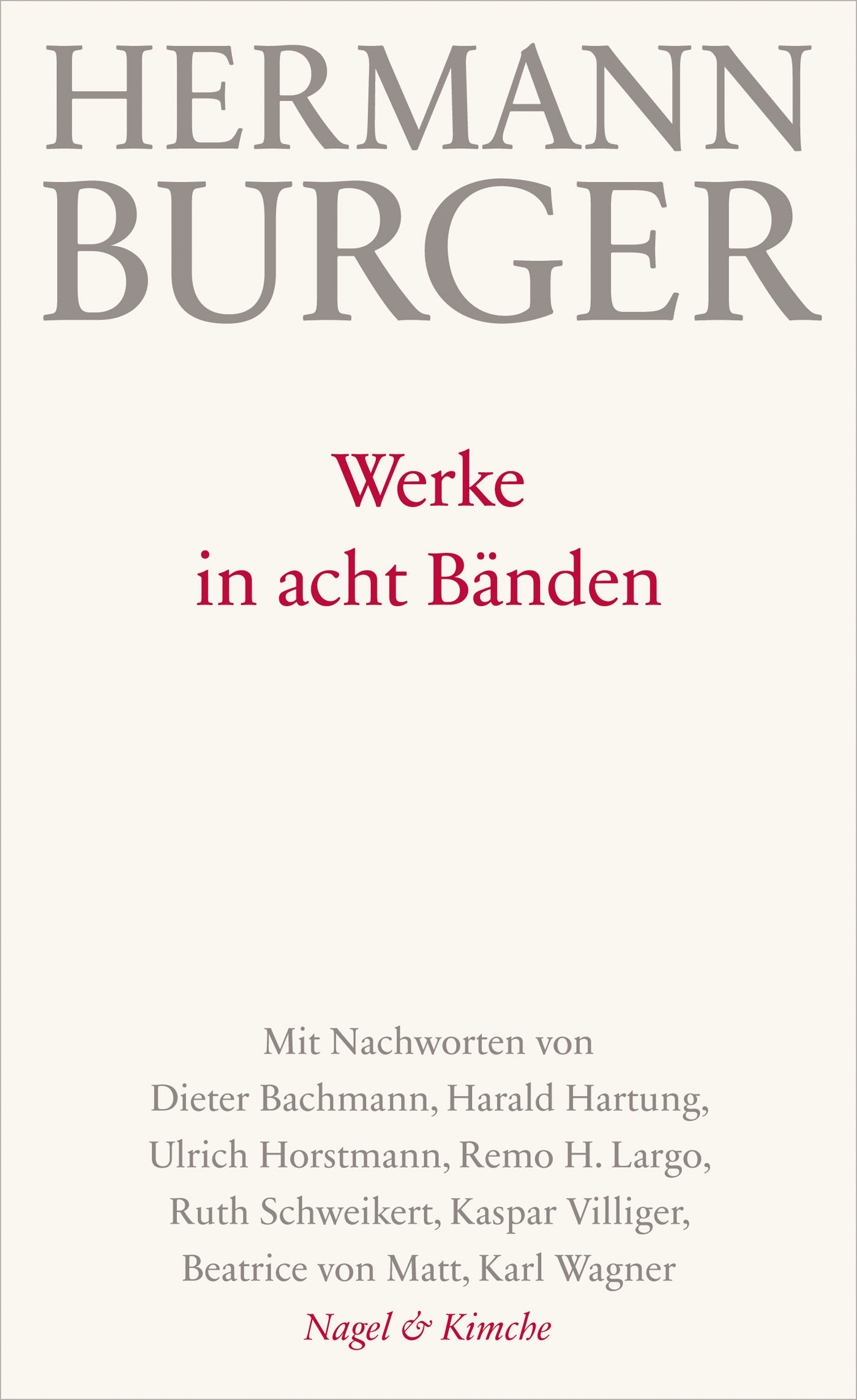 Werke in acht Bänden - Hermann Burger