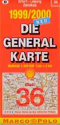 Die Generalkarten Deutschland, Bl.36, Erfurt, L...