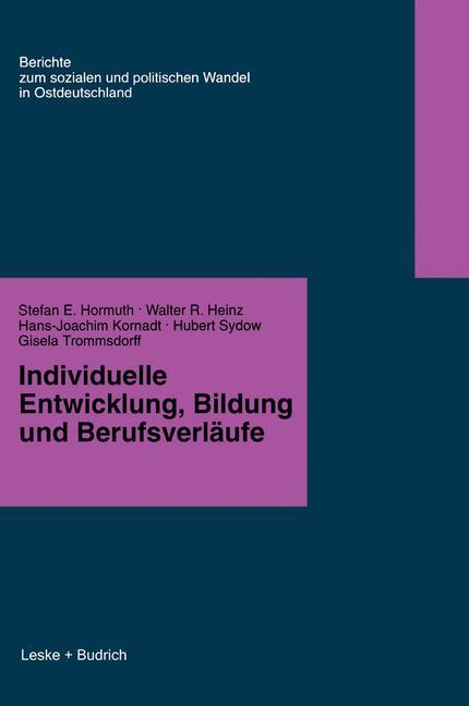 Individuelle Entwicklung, Bildung und Berufsver...