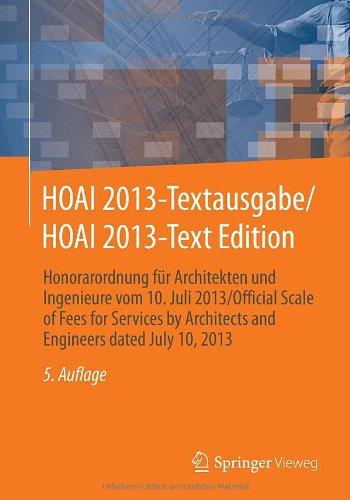HOAI 2013-Textausgabe/HOAI 2013-Text Edition: H...