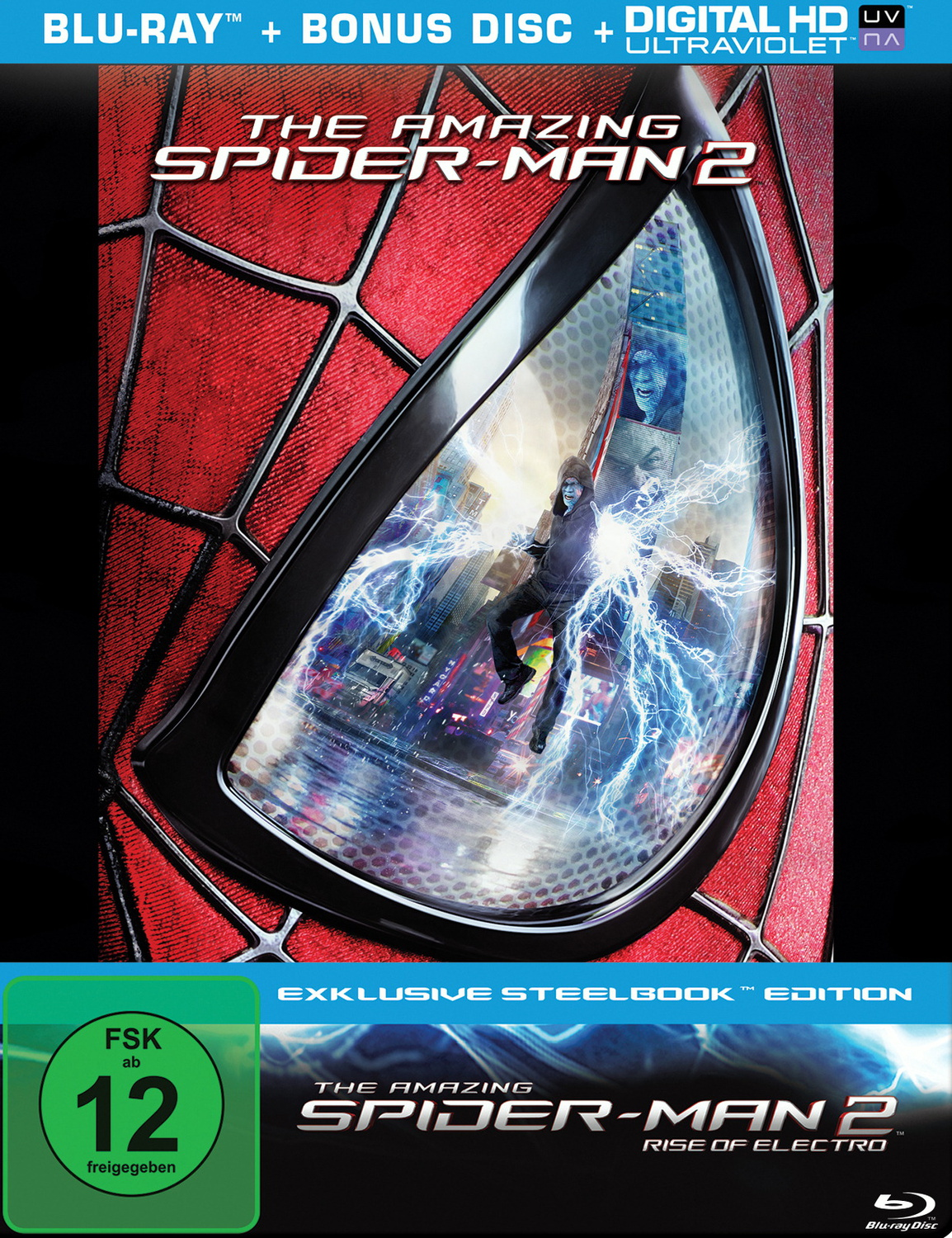 The Amazing Spider-Man 2: Rise of Electro [Steelbook, 2 Discs]