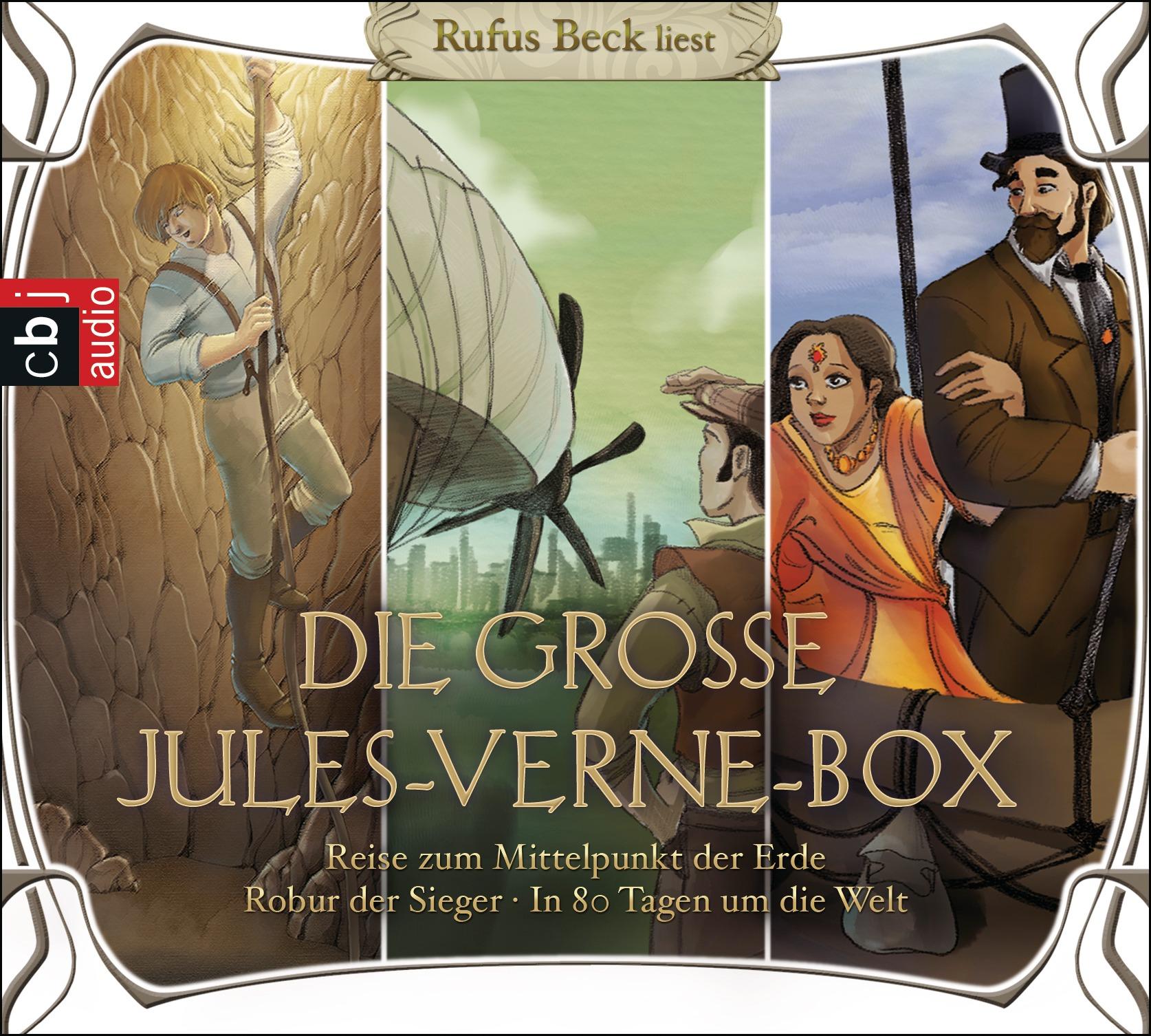 Die große Jules-Verne-Box: Robur der Sieger / Reise zum Mittelpunkt der Erde / In 80 Tagen um die Welt - Jules Verne [10