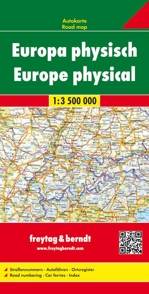 Freytag Berndt Autokarten, Europa physisch - Maßstab 1:3 500 000 - Freytag-Berndt und Artaria KG