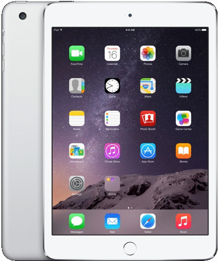 Apple iPad mini 3 7,9 128GB [Wi-Fi + Cellular] silber