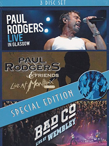 Paul Rodgers - Live in Glasgow / Live At Montreux / Bad Company - Live at Montreux [Special Edition, 3 DVDs]