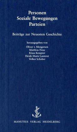 Personen - Soziale Bewegungen - Parteien: Beitr...