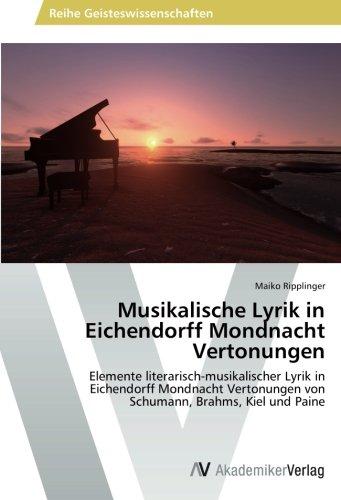Musikalische Lyrik in Eichendorff Mondnacht Ver...
