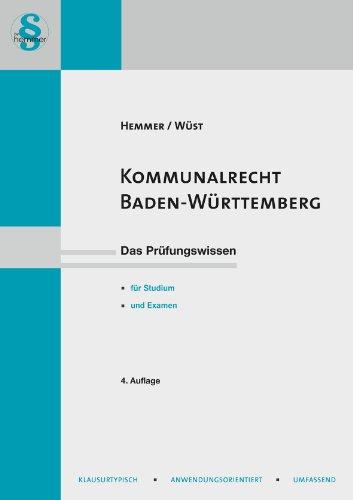 Kommunalrecht Baden Württemberg - Hemmer Karl E...