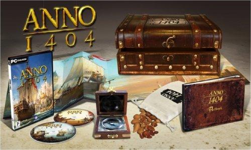 Anno 1404 [Collectors Edition inkl. Holzkiste, Säckchen mit Mandelnsamen, Artbook, Kompass, DVD, Poster, Internationale Version]