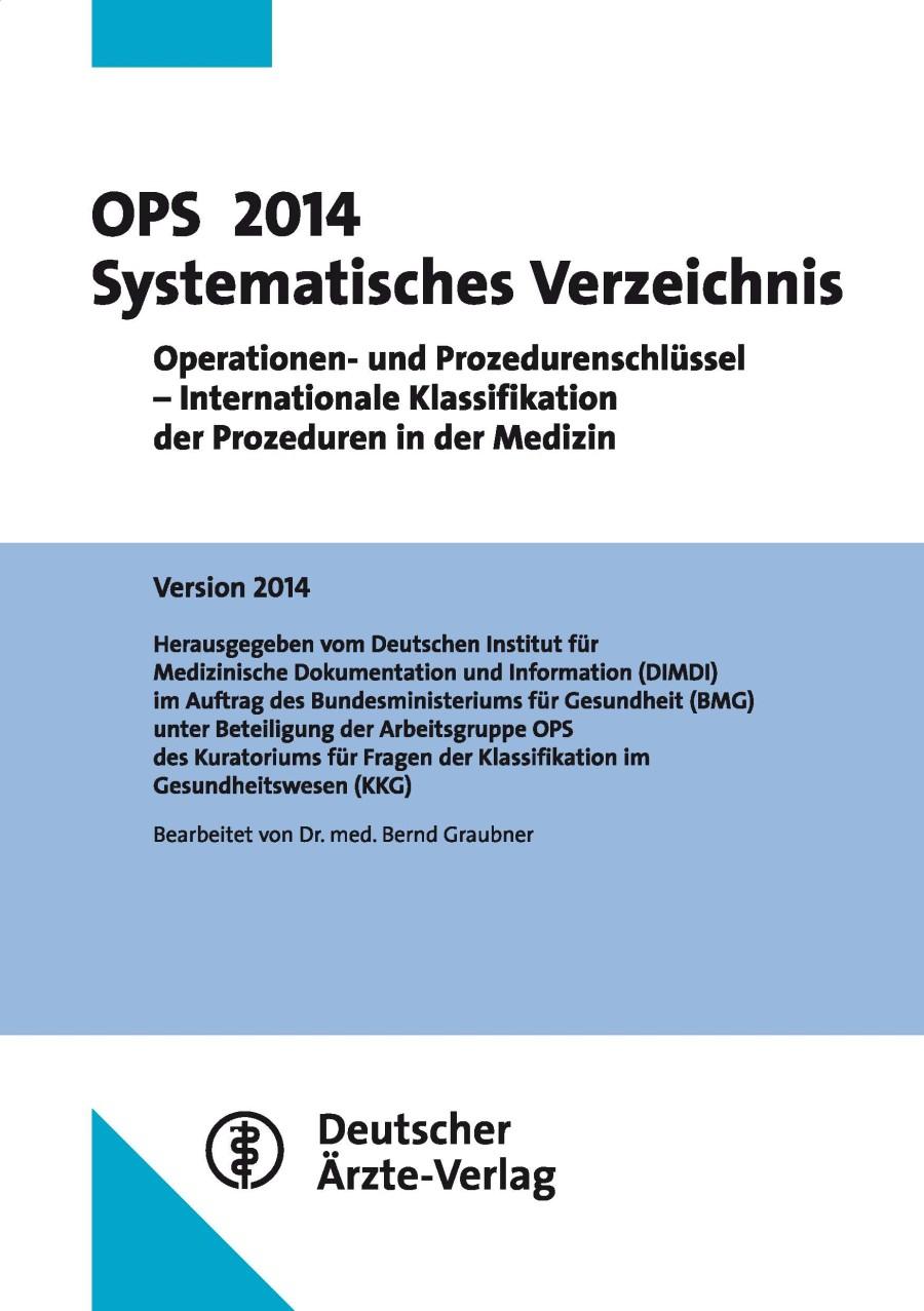 OPS 2014 Systematisches Verzeichnis: Operatione...