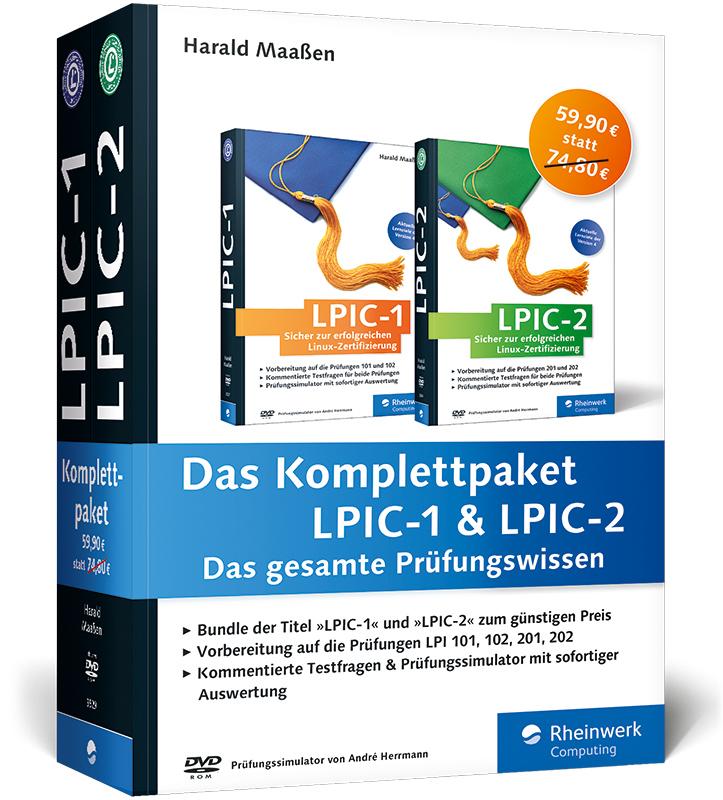 Das Komplettpaket LPIC-1 & LPIC-2: Das gesamte Prüfungswissen - Harald Maaßen [2 Taschenbücher]