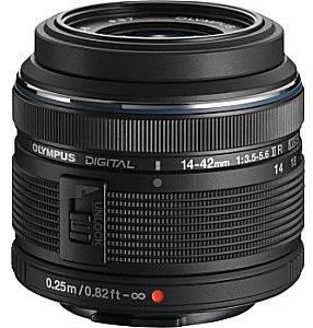 olympus m.zuiko digital 14-42 mm f3.5-5.6 r ii 37 mm obiettivo (compatible con micro four thirds) nero