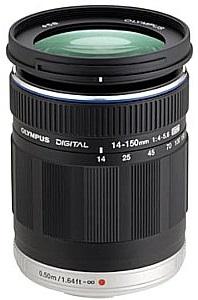 Olympus 14-150 mm 4-5.6 ED 58 mm Filtergewinde (Olympus Micro Four Thirds Anschluss) schwarz