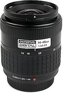 Olympus Zuiko Digital 14 mm - 45 mm F 3.5-5.6 58 mm Filtergewinde (Olympus Four Thirds Anschluss) schwarz