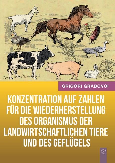 Konzentration auf Zahlen für die Wiederherstellung des Organismus der landwirtschaftlichen Tiere und des Geflügels - Gri