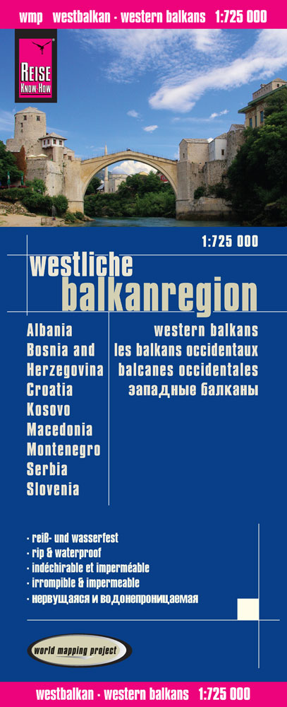 Reise Know-How Landkarte Westliche Balkanregion...
