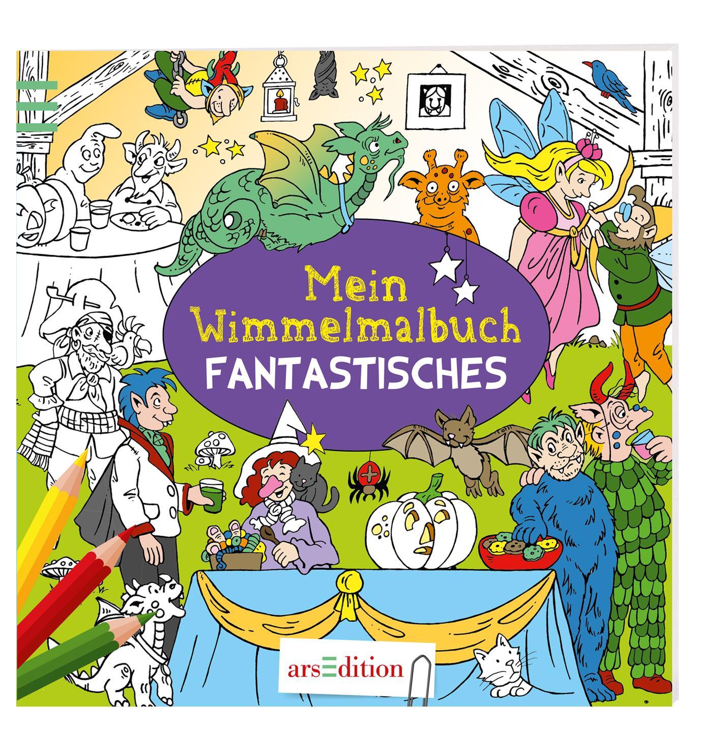 Mein Wimmelmalbuch Fantastisches