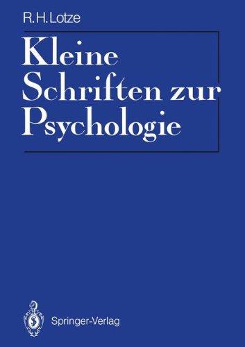 Kleine Schriften zur Psychologie: Eingeleitet u...