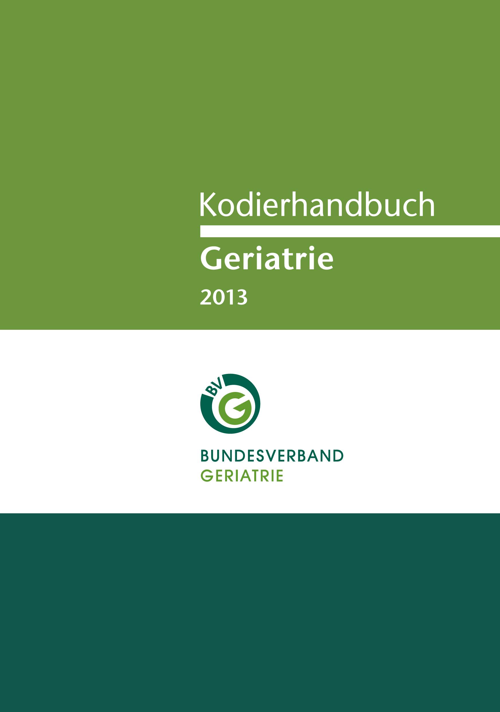 Kodierhandbuch Geriatrie 2013