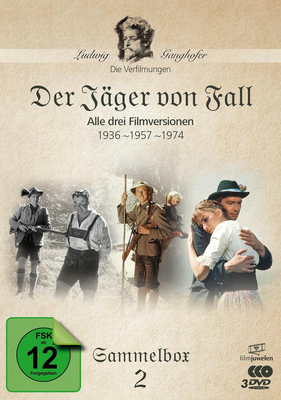 Der Jäger von Fall (1936, 1957, 1974) - Die Ganghofer Verfilmungen - Sammelbox 2 [Filmjuwelen, 3 DVDs]