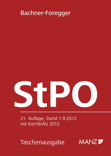 Strafprozessordnung - StPO 1975: Stand 1. 9. 2012
