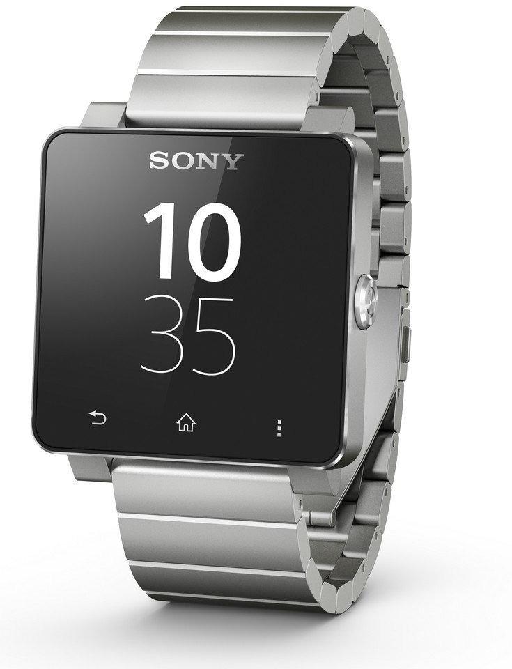 Sony SmartWatch 2 40,6 mm schwarz am Metallarmband silber
