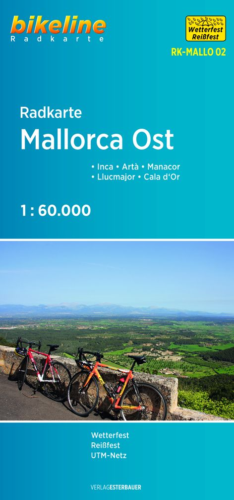 Radkarte Mallorca Ost: Inca - Artà - Manacor - ...