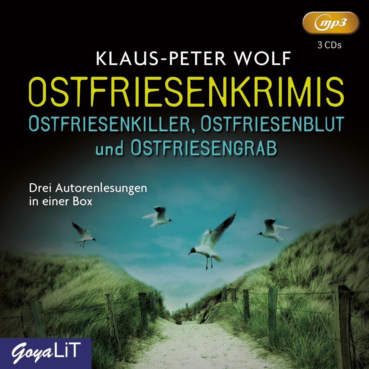 Ostfriesenkrimis: Ostfriedenkiller / Ostfriesenblut / Ostfriesengrab - Klaus-Peter Wolf [3 mp3 CDs]