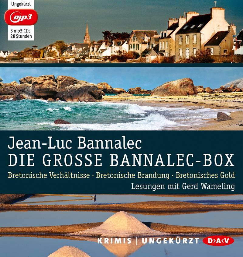 Die große Bannalec-Box: Ungekürzte Lesungen mit Gerd Wameling - Jean-Luc Bannalec [3 mp3 CDs]