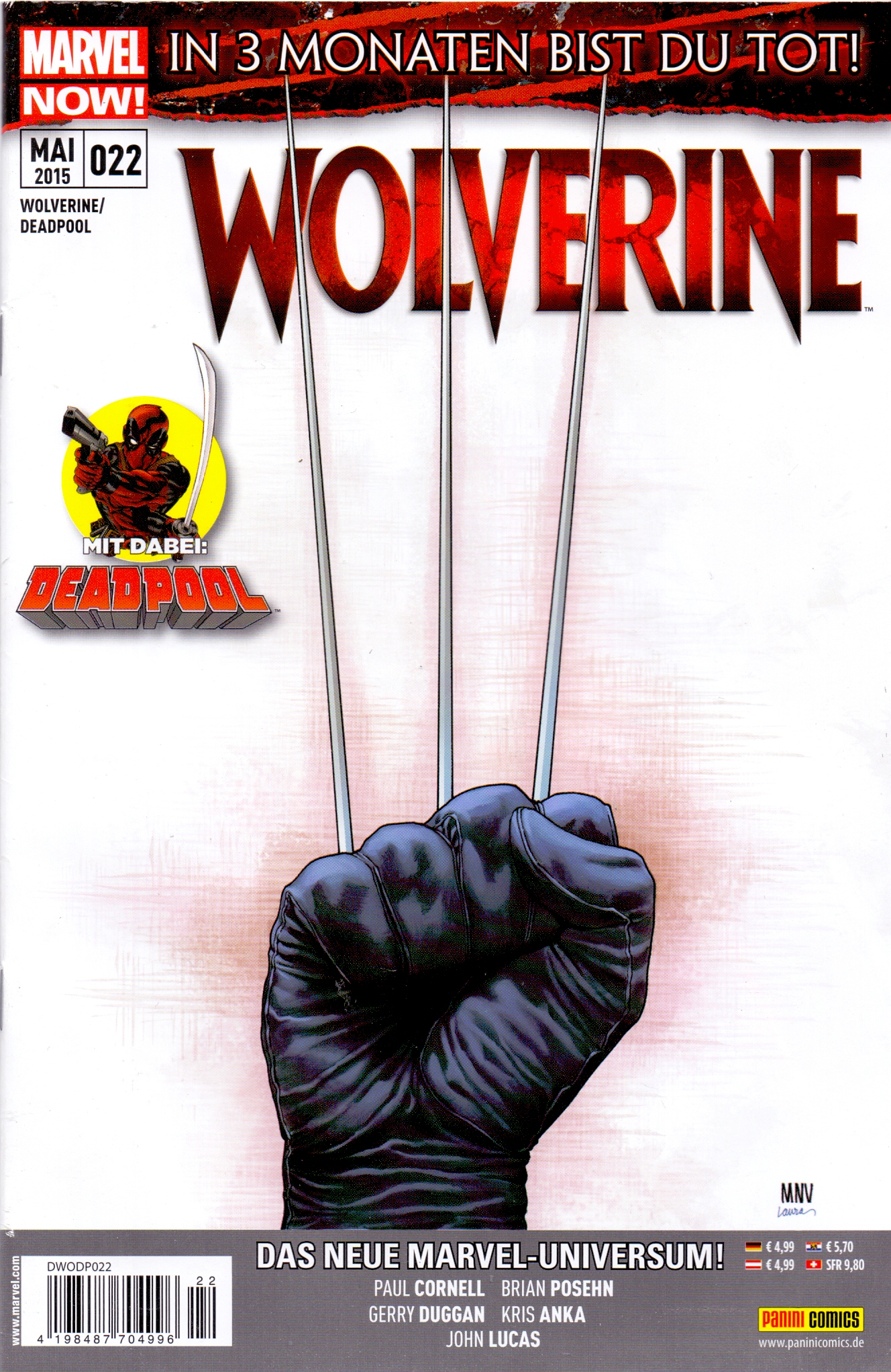 Wolverine / Deadpool: Nr. 22 - In 3 Monaten bist du Tot! - Paul Cornell [Broschiert]