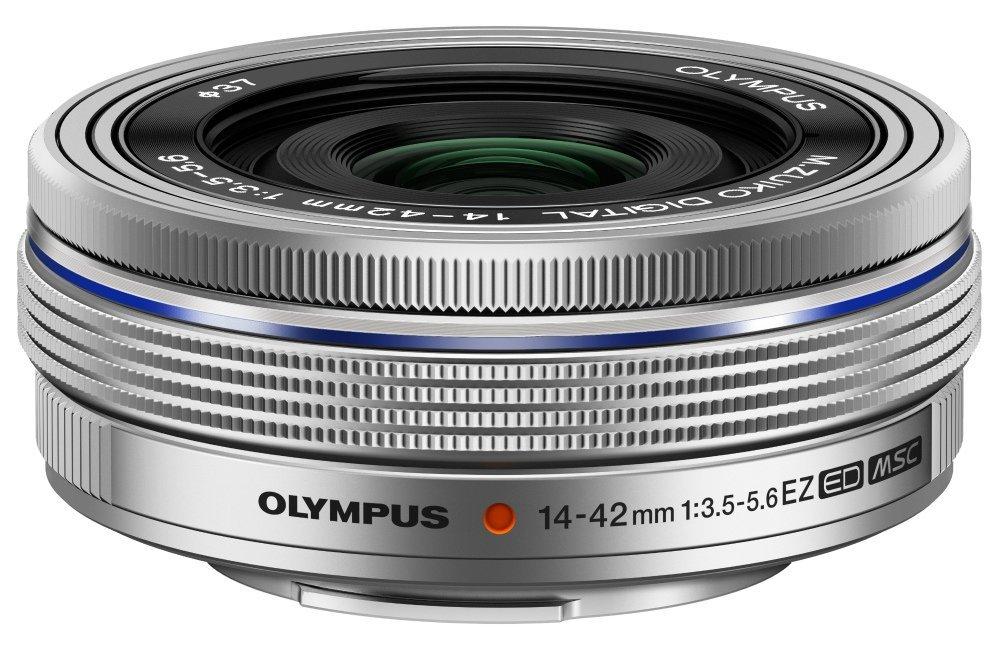 Olympus 14-42 mm 3.5-5.6 ED EZ 37 mm Filtergewinde (Olympus Micro Four Thirds Anschluss) silber