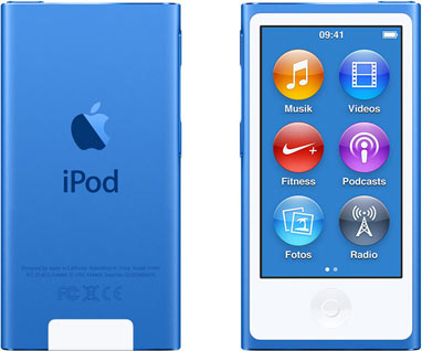 Apple iPod nano 7G 16GB blau [2015]