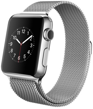 Image of Apple Watch 38 mm zilver met Milanees bandje zilver [wifi]